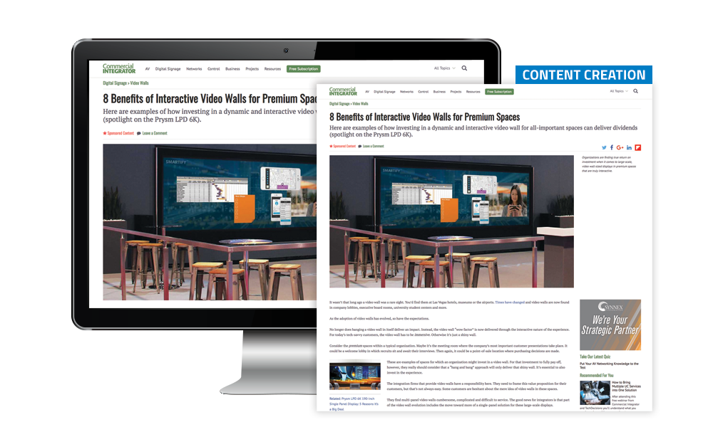 Commercial Integrator Content Creation