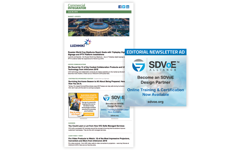 Commercial Integrator Editorial Newsletters