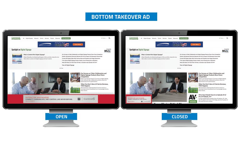 Commercial Integrator Bottom Takeover