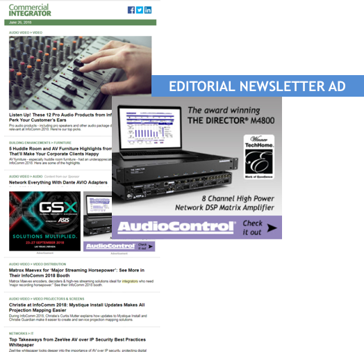 Ce Pro Editorial Newsletter Advertising