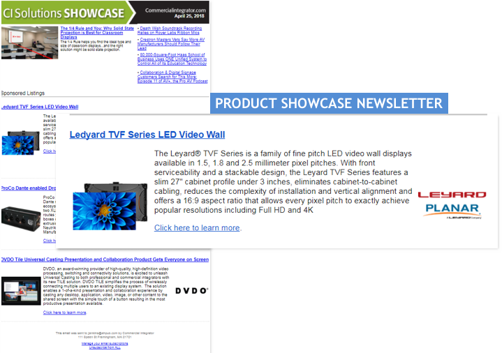Ce Pro Product Showcase Newsletter