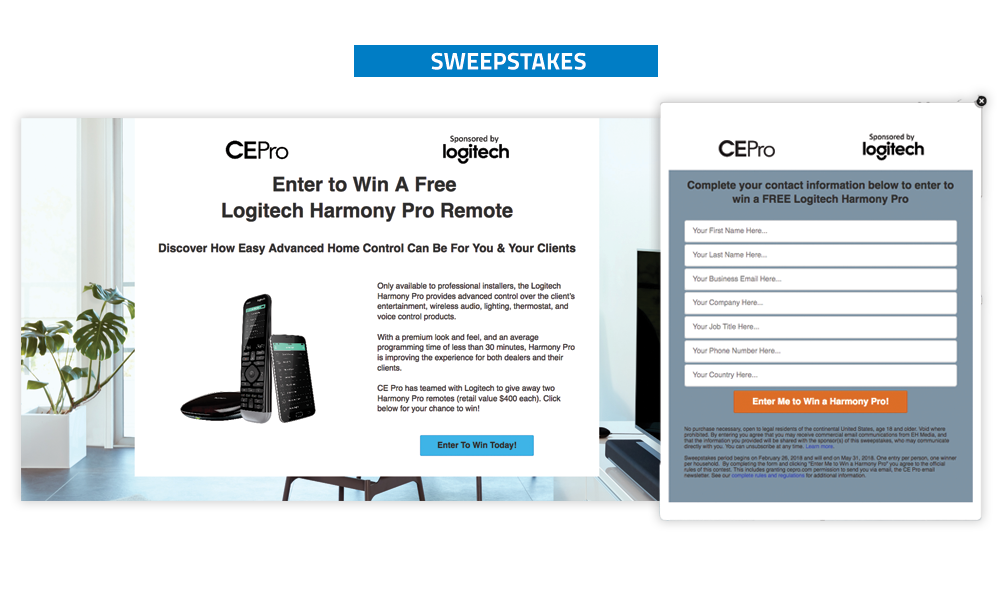 Commercial Integrator Sweepstakes