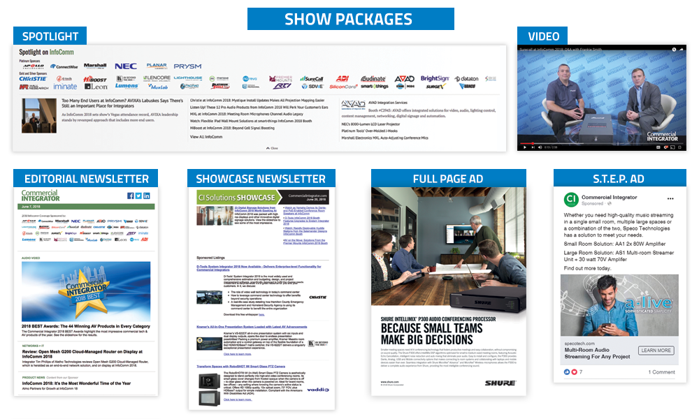 Commercial Integrator Tradeshow Packages